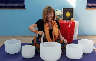 Crystal singing bowls meditation